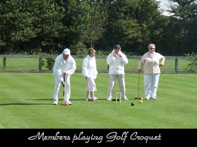 Members playing Golf Croquet