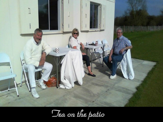 Tea on the patio
